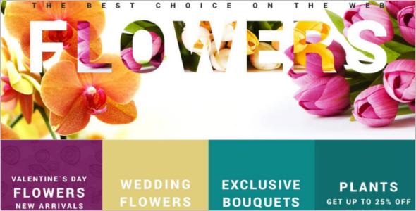 Online Flower Store Mobile VirtueMart Template