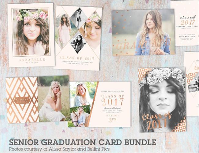 Bundle Senior Graduation Card Template