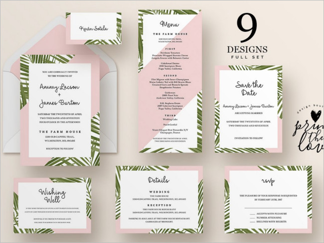 Wedding Invitation Suite Sample