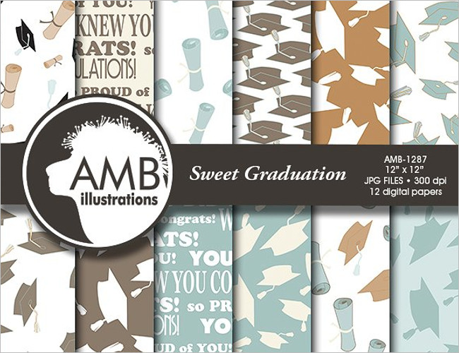 Senior Multi-Graduation Announcement card Template