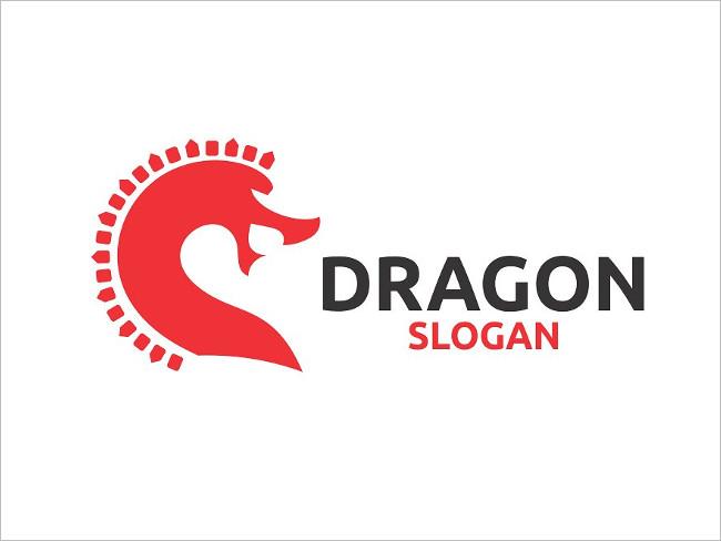 Funny Dragon Logo Template