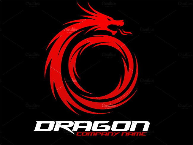 Fly Dragon Design Template