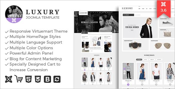 Luxury Mobile VirtueMart Template