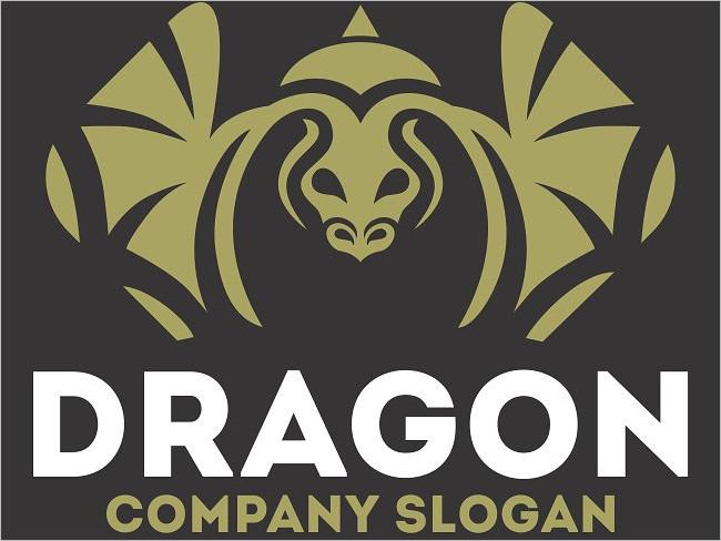 Utilized Dragon Logo Design