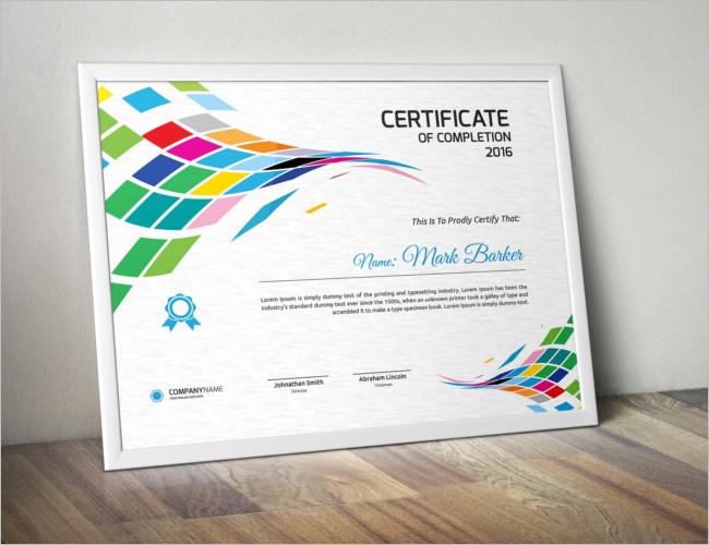 Graduate Certificate Card Template