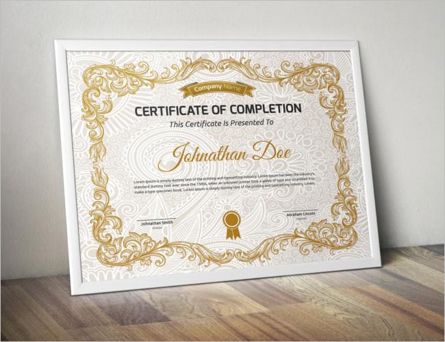 Separate Certificate Card Template