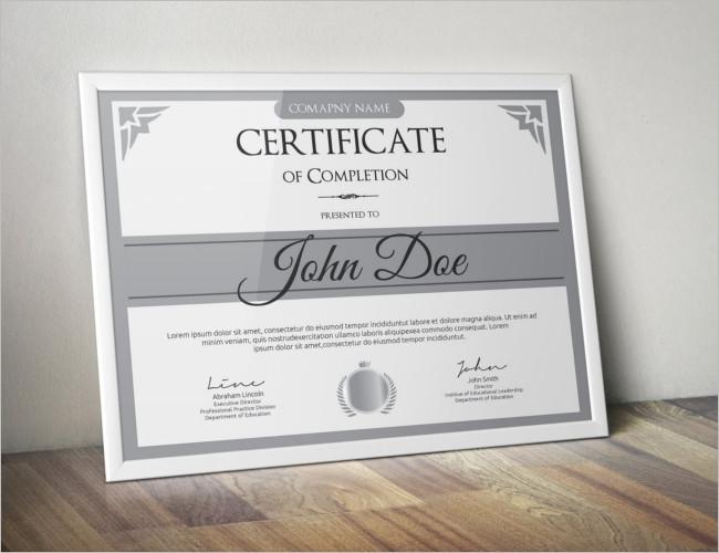 Certificate Of Graduation Card Template