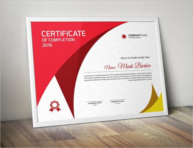 Announcement Certificate Card Template