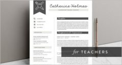 29+ Free Teacher Resume Templates