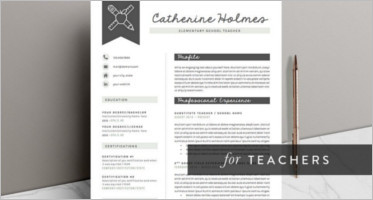 29+ Teacher Resume Templates