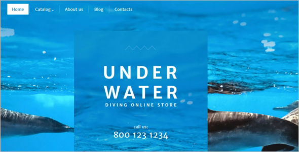 Swimming Diving VirtueMart Mobile Theme