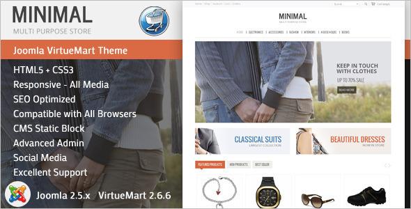 Minimal Reactive VirtueMart Template