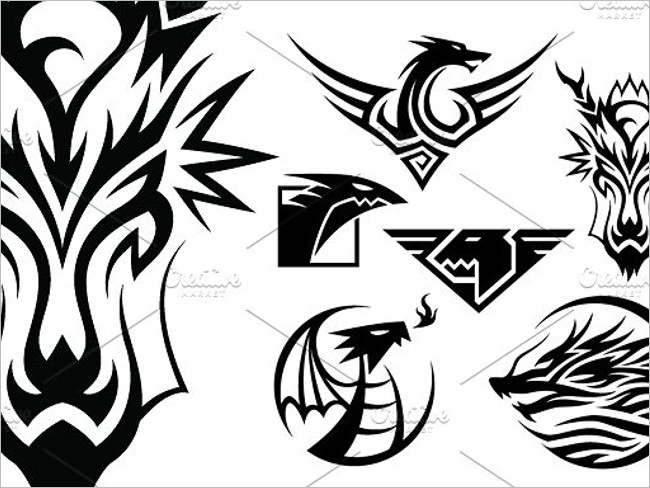 Maintained Dragon Logo Design