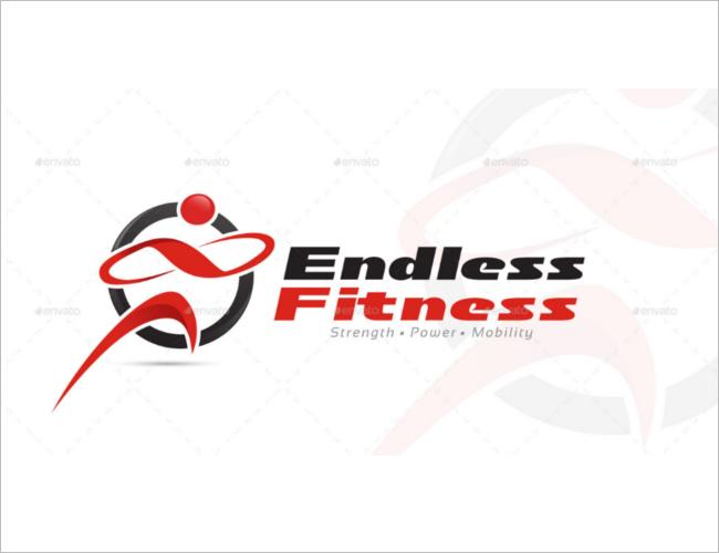 Endless Fitness Logo DesigneTemplate