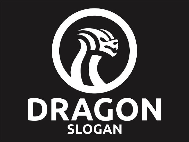 Creative Logo Of Dragon