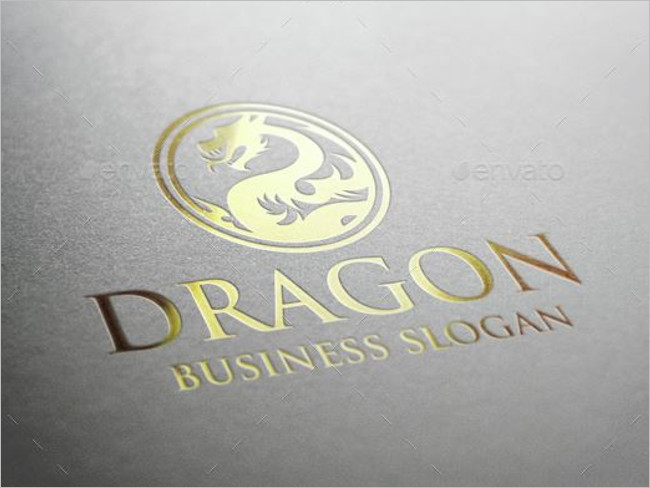 Dragon Logo Suits Logo Template