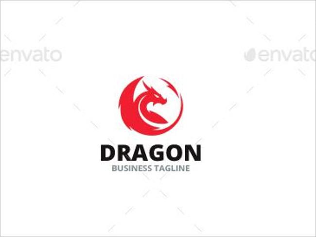 Main Look Of Dragon Logo Template