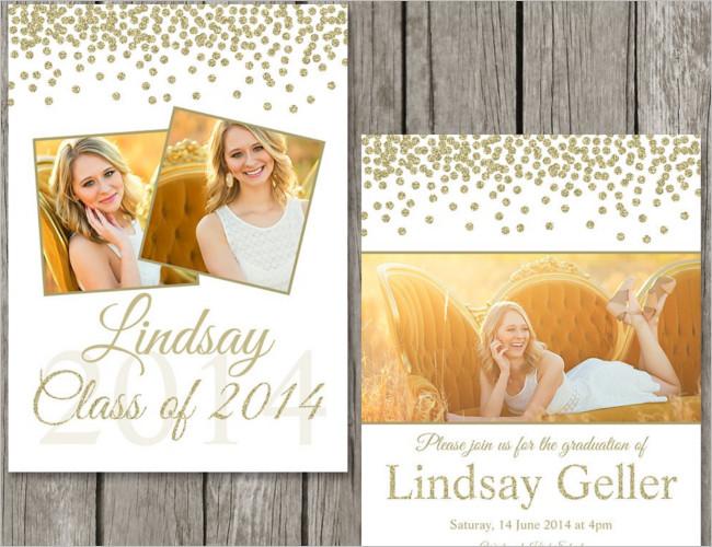 Standard Graduation Invitation Card Template