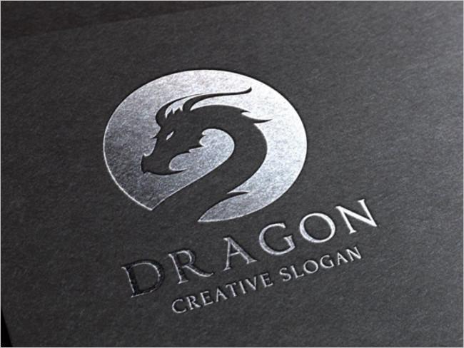 Dragon Logo Utilized Design Template