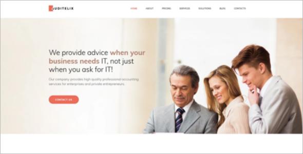 Accounting Premium Website Template