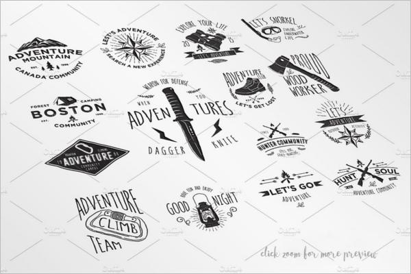 Adventure Badges & Stickers Design