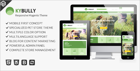 Animal Pet E-commerce Store Magento Theme