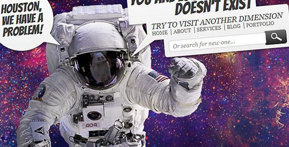 Animated 404 Error Website Template