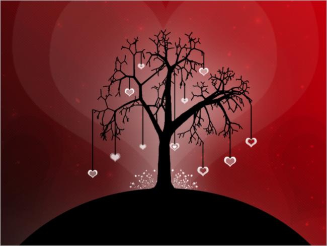 Artistic Love Background Design