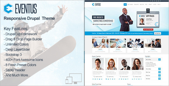 Awesome Events Drupal Templates