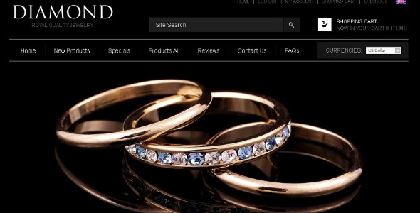 Awesome Gold Jewelry ZenCart Template