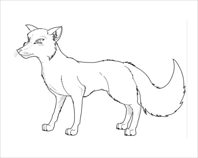 Baby Fox Template
