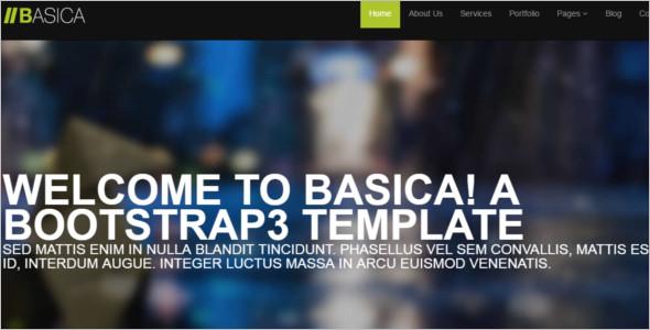 Basic jQuery Website Template