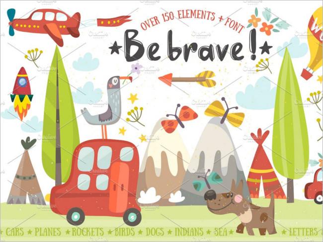 Be Brave Plain Image Design