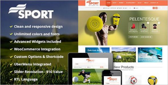 Beautiful Sports Wear WordPress WooCommerce Theme