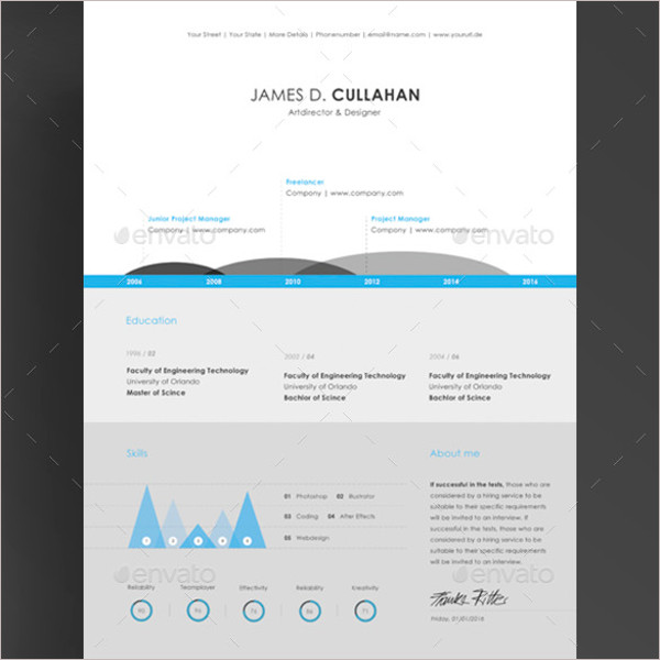 Best Infographic Resume Template PSD Download