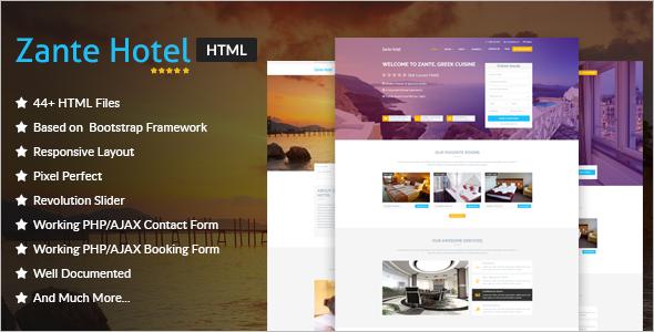 Best Resort Hotel Website Theme
