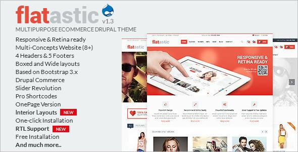 Best drupal E-commerce WordPress Theme