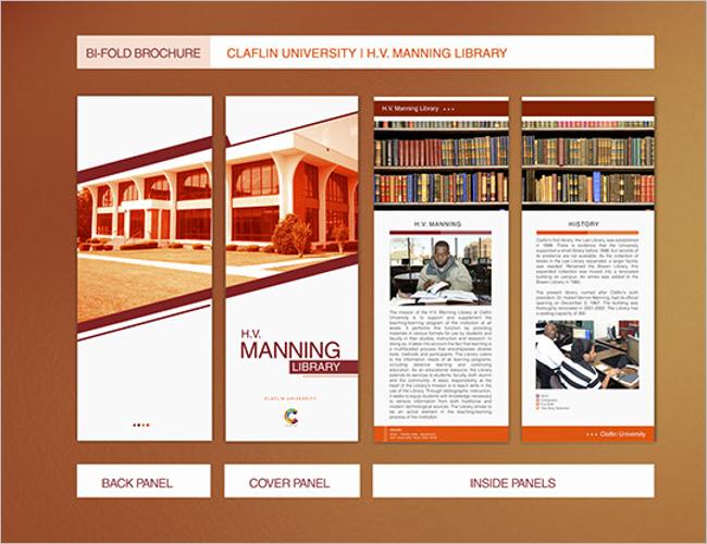 Bi-fold Librsry brochure