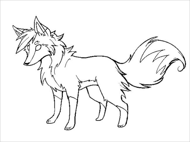 Black & White Fox Template