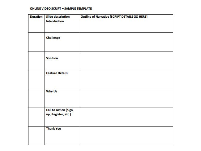 screenplay outline template - 11 free outline templates word pdf example formats