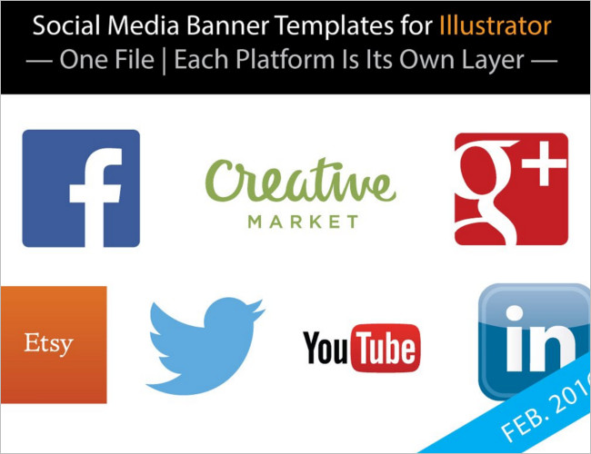 Blank Social Banner Templates for Users