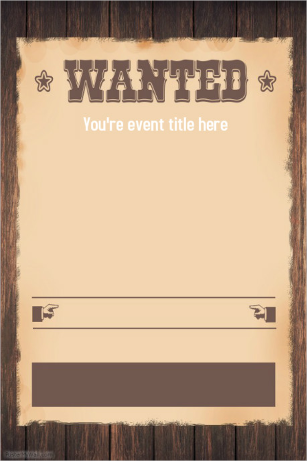 Blank Wanted Poster Template