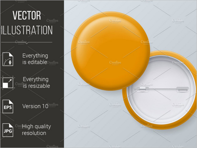 Blank Yellow Vector Badges Images