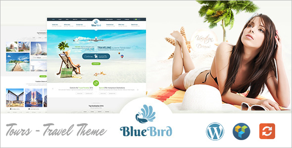 Blue Bird Travel Website Template