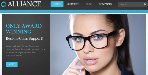 Blue Responsive Consulting Drupal Template