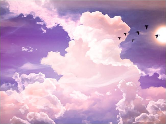 blue purple sky desktop wallpaper - photo #39