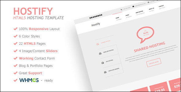 Bookmark Responsive Hosting website Template