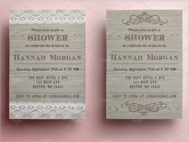 Bridal Shower Invitation Card Download