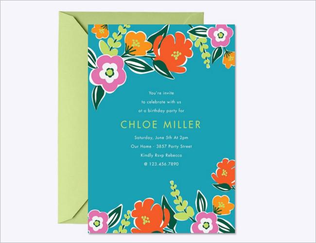 Bright Blooms Invitation Template