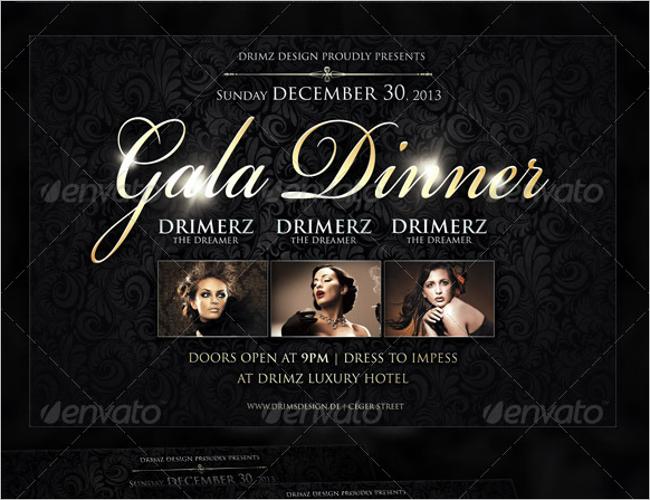 Business Gala Dinner Flyer Designs